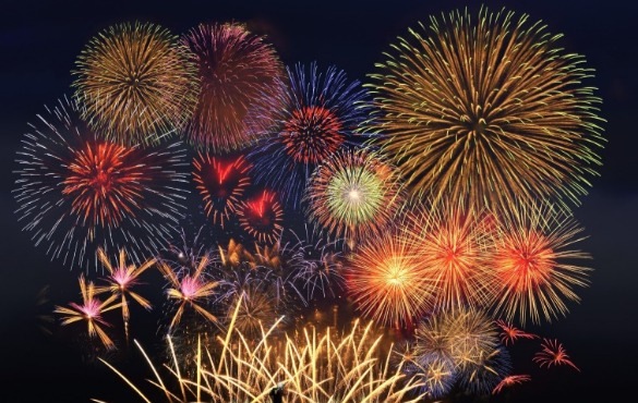 fireworks at night | Coastline Realty Vacations