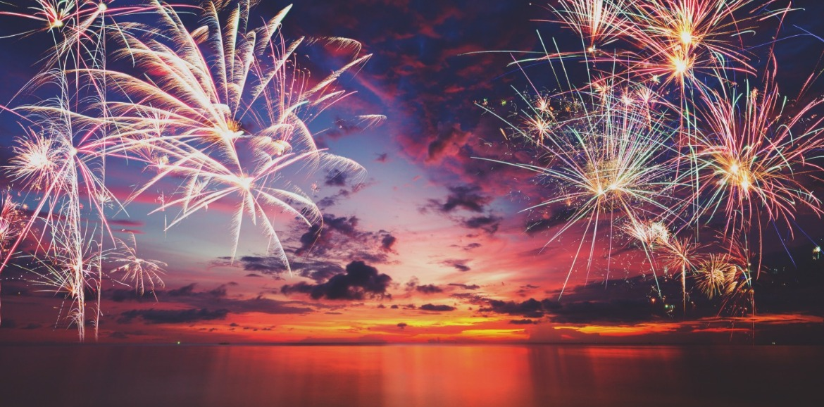 fireworks on the beach | Coastline Realty