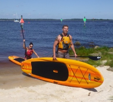 couple kayaking | Coastline Realty Vacations