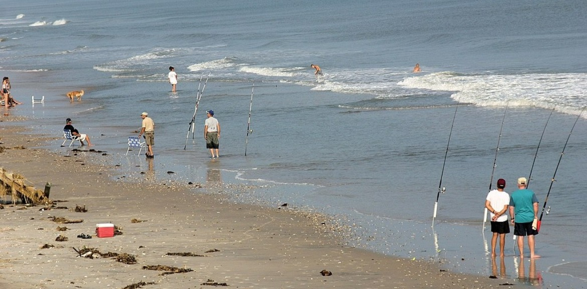 surf fishing on topsail island | Coastline Realty Vacations
