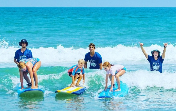 surfing lessons on topsail island | Coastline Realty Vacations