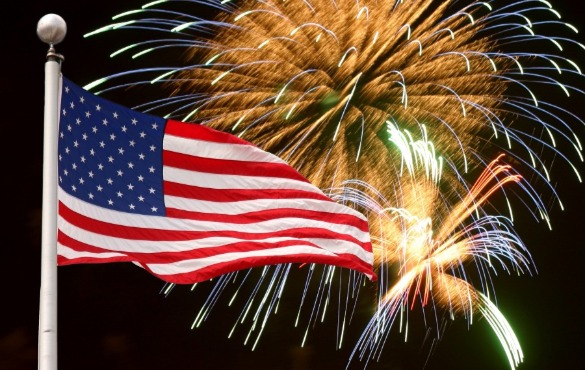 flag and fireworks | Coastline Realty Vacations