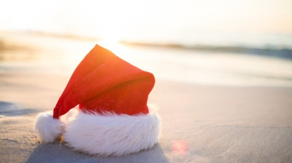 santa hat on topsail beach | Coastline Realty Vacations