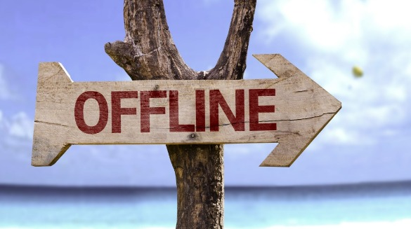 offline arrow sign at beach | Coastline Realty Vacations