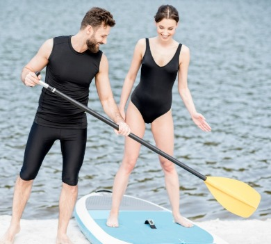 topsail island paddle boarding lessons | Coastline Realty Vacations