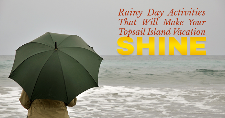rainy day on beach | Coastline Realty Vacations